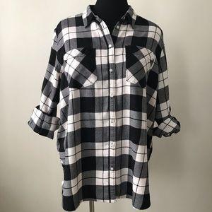 Express b&w plaid flannel